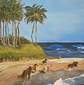 Horses On The Beach by Linda McCarthy
