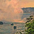 Horseshoe Falls Canadian Niagara Falls by Lawrence Christopher