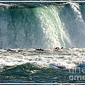 Horseshoe Falls Closeup Over The Brink by Rose Santuci-Sofranko