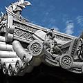 Horyu-ji Temple Roof Gargoyles - Nara Japan by Daniel Hagerman