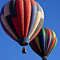 Hot Air Ballons Floating High by Garry Gay