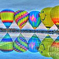Hot Air Balloons At Eden Park by Jeremy Lankford