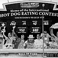 Hotdog Eating Contest Time In Black And White by Rob Hans