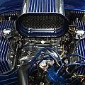 Hotrod Engine In Blue by Chris Day