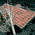 House And Lava Flow by Dr Juerg Alean