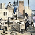 House Construction, 19th Century Artwork by Cci Archives