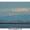 Dungeness Spit Lighthouse - Mt. Baker - Washington by Marie Jamieson