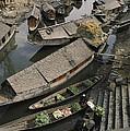 Houseboats Line A Waterway by Gordon Wiltsie