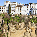 Houses On A Cliff In Ronda Town by Artur Bogacki