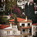Houses On The Hill Nerja by Mary Machare