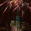 Hudson River Fireworks X by Clarence Holmes