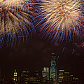Hudson River Fireworks Xi by Clarence Holmes