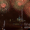 Hudson River Fireworks Xii by Clarence Holmes