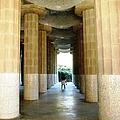 Huge Tall Columns II Antoni Gaudi Guell Park Barcelona Spain by John Shiron