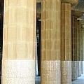 Huge Tall Columns IIi Antoni Gaudi Guell Park Barcelona Spain by John Shiron