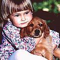 Hugging Her Puppy