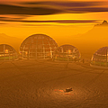 Human Settlement On Alien Planet by Carol and Mike Werner and Photo Researchers