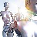 Humanoid Robots, Artwork by Victor Habbick Visions