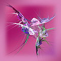 Hummingbird Fantasy Abstract by Andee Design