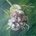 Hummingbird-green by Monika Shepherdson