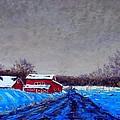 Hunterdon County Barns In Winter by Bob Richey
