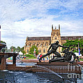 Hyde Park Fountain And St. Mary's Cathedral by Kaye Menner