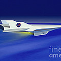 Hyper-x Hypersonic Aircraft by Science Source