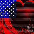 I Love America by Wingsdomain Art and Photography