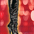 I Love The Night Life Patent Boots by Elaine Plesser