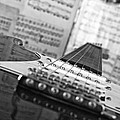 Ibanez Six String Black And White by Frank Morales Jr