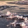 Ice At Sunset by Earl Nelson