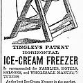 Ice Cream Freezer, 1872 by Granger