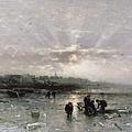 Ice Fishing by Ludwig Munthe