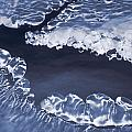 Ice Formations On Small Creek by Darwin Wiggett