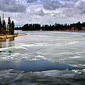 Ice On The Yellowstone River by Ellen Heaverlo
