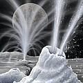 Ice Volcanoes On Charon, Artwork by Richard Bizley