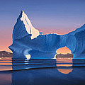 Icebergs At Sunset by Cliff Wassmann