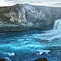 Iceland Godafoss Waterfall Panorama by Gregory Dyer