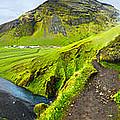 Iceland Skogar Waterfall 01 by Gregory Dyer