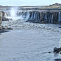 Iceland Waterfall Selfoss 03 by Gregory Dyer