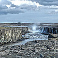 Iceland Waterfall Selfoss 04 by Gregory Dyer