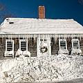 Icicles Hang From The Roof Of This Home In Barnstable On Cape Co by Matt Suess