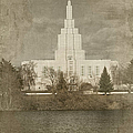 Idaho Falls Temple Verticle by Ramona Murdock