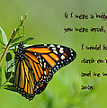 If I Were A Butterfly by Bill Cannon