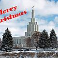 If Temple Christmsa Card 1 by DeeLon Merritt