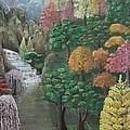 Imagined Autumn In Japan by Ana Maria  Garcia Ruiz