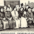 Immigrants. Shows A Group Of Immigrants by Everett