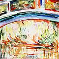 Impressions On Monet Painting Of Pond With Waterlilies  by Irina Sztukowski