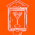 In Case Of Emergency - Drink Martini - Orange by Wingsdomain Art and Photography