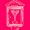 In Case Of Emergency - Drink Martini - Pink by Wingsdomain Art and Photography